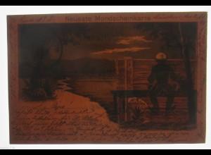 """""""Neuste Mondscheinkarte"""" 1903, Halt gegen das Licht ♥ (31299)"""