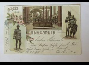"""""""Ritter, Gruß aus Innsbruck"""" 1898 ♥ (31429)"""