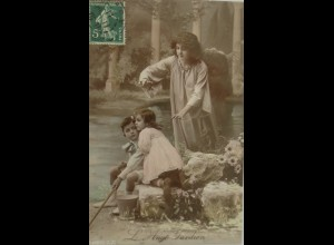 """Schutzengel, Engel, Schlange"" 1911 ♥ (15041)"