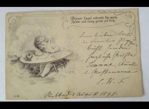 """""""Valentinstag, Engel, Amor, Herz"""" 1898 ♥"""