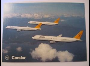 Condor, Boeing 746, Fotokarte 1992, München Flughafen