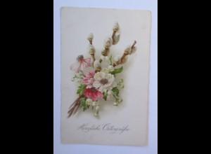 Ostern, Blumen, Weidenkätzchen, 1926 ♥ (67228)