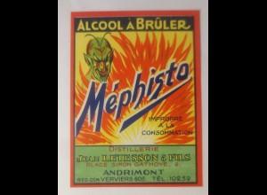 Alkohol Bruler Mephisto Distillerie Jean Letesson & Fils, Andrimont,1950♥