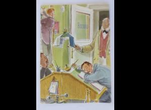 Berufe, Büro, Scherzkarte, 1972 ♥