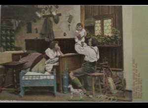 Frauen, Kinder, Mode, Wiege, Männer, Spielzeug, 1900 ♥ (16576)