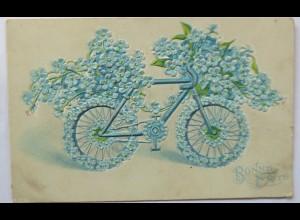 """""""Geburtstag, Fahrrad""""1903, Prägekarte ♥ (4236)"""