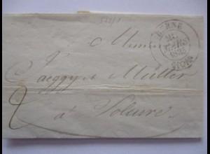 Schweiz, Vorphila 1835 aus Bern (Brief mit Text) (8532)