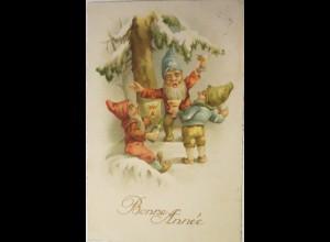 Neujahr, Sekt, Tanne, 1923 ♥ (25873)
