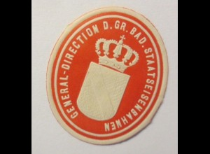 Vignetten, Verschlußmarken, General Direction Staatseisenbahnen ♥ (65454)