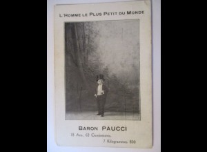 Zirkus, Theater, Varieté, Liliputaner Baron Paucci, Luna Park, ca. 1900 ♥ (122)