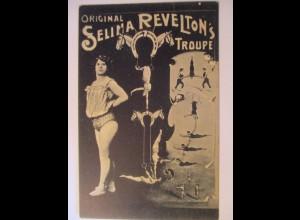 Zirkus, Original Selina Revelton´s Trupp, 1910 nach Strassburg UnionTh.♥ (10860)