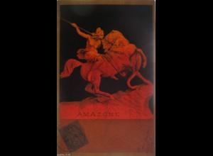 """""""Künstlerkarte, Amazone""""1903, Halt gegen das Licht ♥ (7878)"""