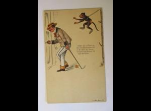 """""""Affe, Kette, Männer, Taschenuhr, Stern"""" 1900, Optische Spielereien ♥"""