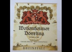 Weinetiketten, Weisenheimer Dörrling, Gebr. Jllert KG,Klein-Auheim/Hanau♥
