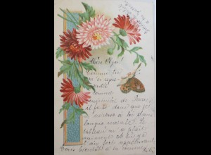 """Schmetterling, Blumen"" 1904 ♥ (2802)"