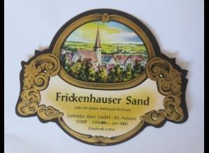 Weinetiketten, Frickenhauser Sand, Gebr. Jllert GmbH, Klein-Auheim-Hanau♥