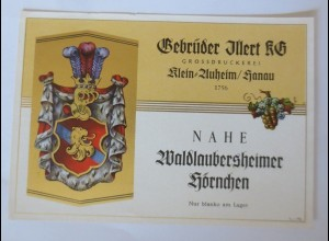 Weinetiketten, Waldlaubersheimer Hörnchen, Gebr, Jllert KG, Klein-Auheim♥