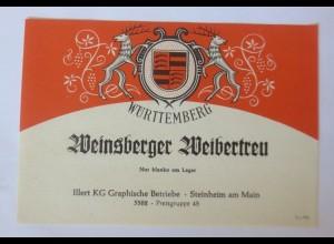 Weinetiketten, Weinsberger Weibertreu, Jllert KG, Steinheim am Main ♥