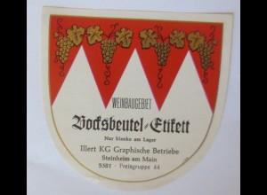 Weinetiketten, Weinbaugebiet, Steinheim am Main ♥