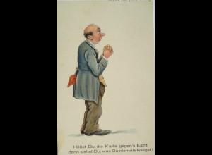 """""""Scherzkarte, Männer"""" 1932, Halt gegen das Licht ♥ (17625)"""