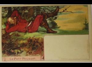 """""""Der kleine Däumling, Le Petiti Poucet""""1900, im Licht Däumling,Stiefel ♥"""