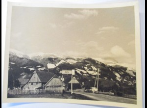 Au, Ortseingang mit Ortsschild, Totes Gebirge, Foto (46102)