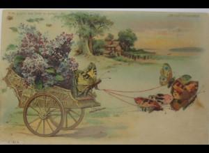 Kutsche, Schmetterlinge, 1901, Im Licht leuchten Schmetterlinge ♥ (15158)