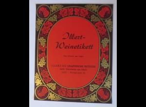 Illert-Weinetikett, Muster, KG Graphische Betriebe, Steinheim am Main ♥