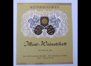 Weinetikett, Illert-Weinetikett, Weinbraugebiet, Steinheim am Main ♥