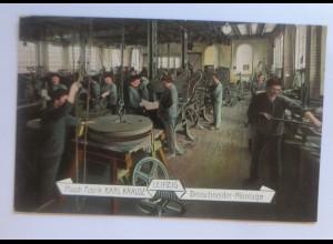Berufe, Masch. Fabrik Karl Krause Leipzig Dreischneider-Montage, 1907 ♥