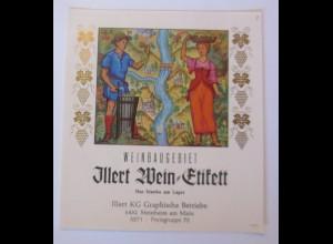 Weinetikett, Weinbaugebiet, Steinheim am Main ♥