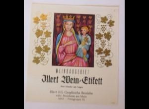 Weinetikett, Weinbaugebiet, Steinheim am Main ♥ (67857)