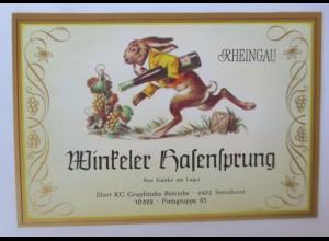 Weinetikett, Winkeler Hasensprung, Steinheim ♥