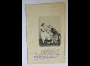 Wilhelm Busch, Max und Moritz, 1901, Prägekarte ♥ (31782)