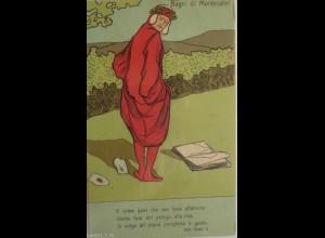 """""""Scherzkarte, Lobeer, Weinberge, Ernte """" 1910, Halt gegen das Licht ♥"""