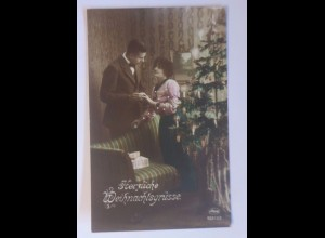 Weihnachten, Frauen, Mode, Weihnachtsbaum, 1910, Feldpost ♥ (56491)