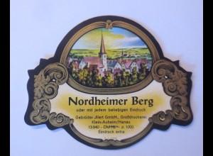 Weinetikett, Nordheimer Berg, Klein-Auheim-Main ♥