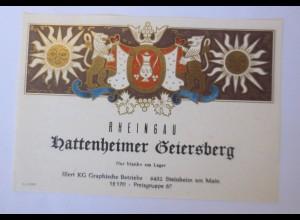 Weinetikett, Rheingau, Hattenheimer Geiersberg ♥