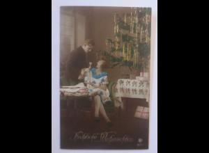 Weihnachten, Frauen, Männer, Mode, Weihnachtsbaum, 1910 ♥ (56495)