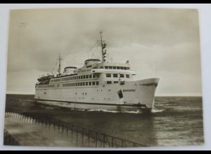 Schiffe, MS Warnemünde, Fotokarte 1965