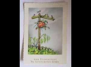 Pfingsten, Blumen, Vogel, 1956 ♥ (50721)