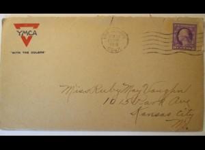 USA, Army and Navy YMCA Brief 1918, Interessanter Text über die Navy (44687)