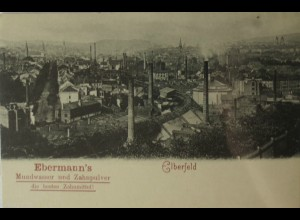 """""""Zahnarzt, Zähne, Dentist""""1900, Elberfeld, Mundwasser - Fabrik (11634)"""
