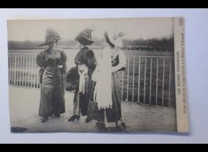 """Frauen, Mode, Hutmode, Modenschau, Jupe-Culotte, Auteuil"" 1910 ♥"