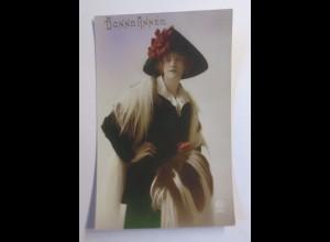 """Frauen, Mode, Hutmode, Muff, Stola"" 1910 ♥"