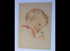 Kinder, Mode, Blume, 1950 ♥ (53713)