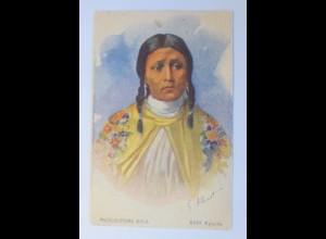 Indianer, Reklame, Musculosine Byla XVIII. Apache, 1910, G. Albinet ♥