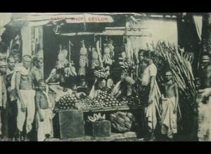 Ceylon, Sri Lanka, Eingeborenen Shop, Geschäft, ca. 1910 (1692)