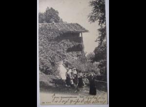 Vierwaldstättersee, Rütli, Frauen, 1906