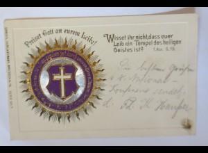 """""""Religion, Bibelspruch, Monstranz"""" 1904, Prägekarte ♥"""